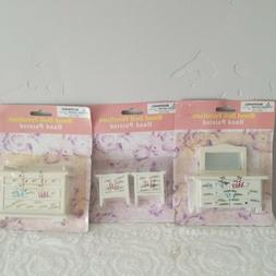 3  Hand Painted Wooden Dollhouse Furniture Bedroom Night Sta