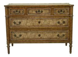 49240EC: MAITLAND SMITH Regency Style Leather Wrapped Chest