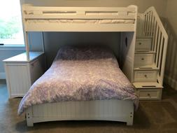 5 piece bedroom set - bunk bed with desk and storage, plus a