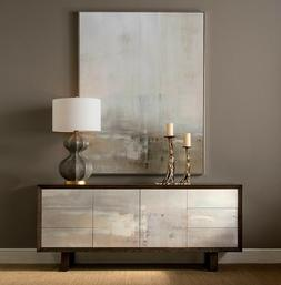 """84"""" Rustic Modern Brown Wood Horchow Dune Credenza Sideboard"""