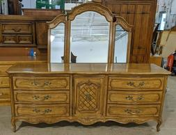 Thomasville Camille French Country Triple Dresser w/ Mirror