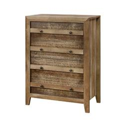 Chest Drawer Home Bedroom Furniture Rustic Storage Quick Eas