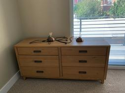 Crate&Barrel  6-drawer Double Dresser--real wood