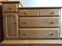 Dresser And Hutch Changing Table Berg Solid Wood