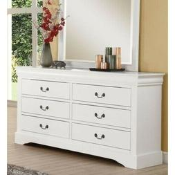 Dresser ACME Louis Philippe III Wood Furniture with 6 Drawer