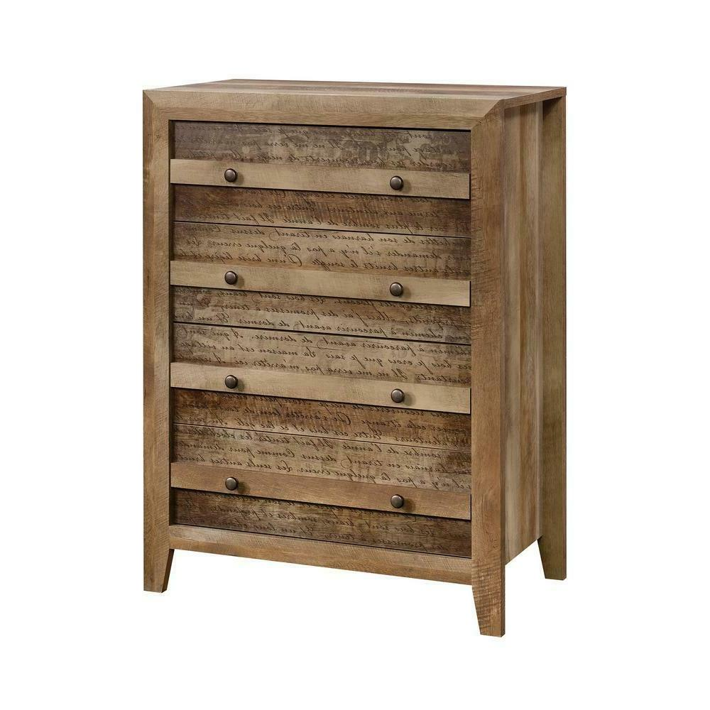 chest drawer home bedroom furniture rustic storage