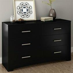 South Shore Gramercy 6 Drawer Dresser in Pure Black