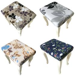 US Dresser Stool Cover Floral Seat Chair Slipcover Pastoral