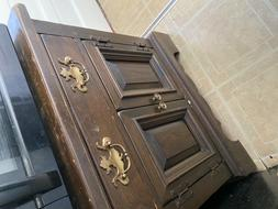 used armoire dresser, two pieces, must pick up, brown/chestn