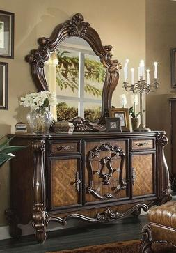 Versailles Traditional 5 Drawer Dresser and Mirror - Rich Ch
