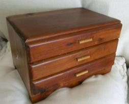 vtg small tongue groove dovetail doll dresser